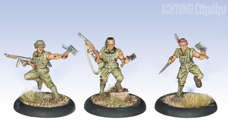 Achtung! Cthulhu: Miniatures - Pathfinders Demonhunters