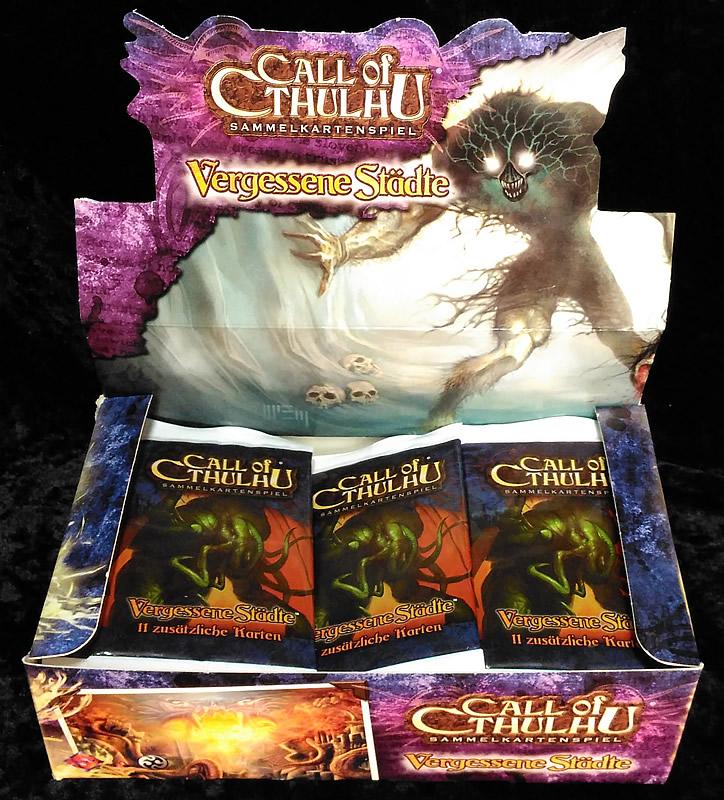 Call of Cthulhu - Sammelkartenspiel (deutsch) - Vergessene Städte (36 Booster Box)