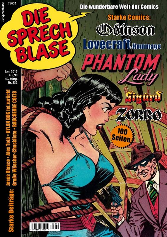 Die Sprechblase 232 (Magazin) - mit einer Lovecraft-Hommage von FuFu Frauenwahl