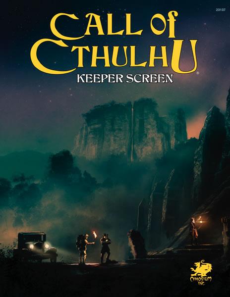 Call of Cthulhu: 7th Edition Keeper Screen - Spielleiter Sichtschirm inklusive 2 Abenteuern (englisch)