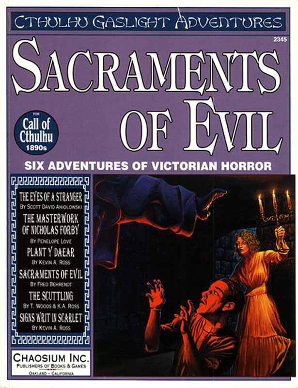Sacraments of Evil - 6 Abenteuer für Cthulhu-Gaslicht - 1890er Jahre (englisch)