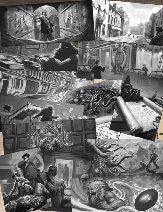 Cthulhu Britannica: The Curse of Nineveh Illustrationen
