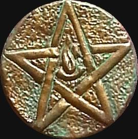 Älteres Zeichen nach August Derleth  (Relief-Scheibe aus Resin) - Kult-Objekt