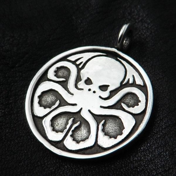 Cthulhu (Silber-Amulett rund)