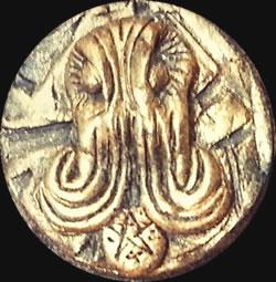 Cthulhu Kopf (Relief-Scheibe aus Resin) - Kult-Objekt 30mm