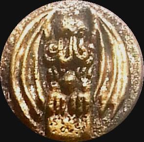 Cthulhu Frontal - mittel (Relief-Scheibe aus Resin) - Kult-Objekt 45mm