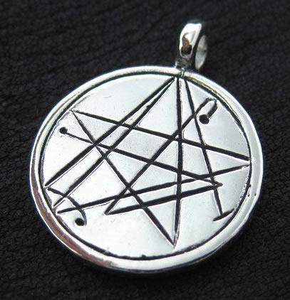 Nekronomicon Zeichen nach Simon (Silber-Amulett)