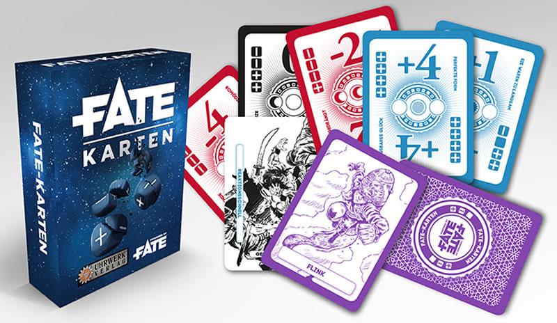 Fate-Karten  - 110 Spielkarten für das Fate und Fudge-Rollenspiele