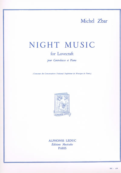 Noten: Night Music for Lovecraft von Michel Zbar