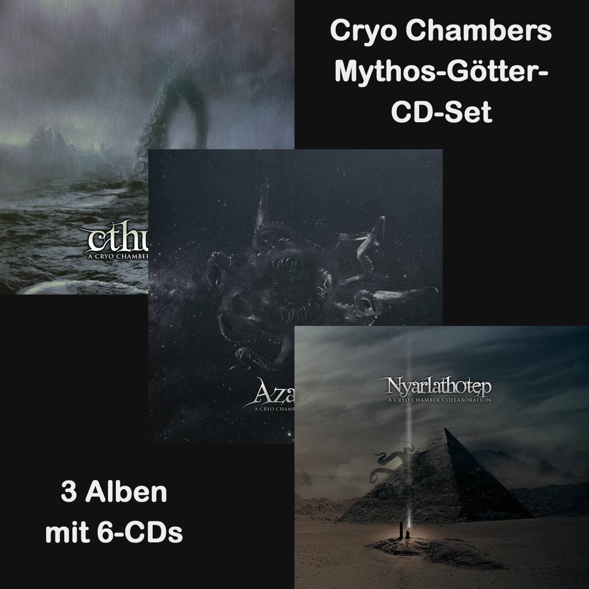 Cryo Chambers - Mythos-Götter-CD-Set (3 Alben / 6 CDs)