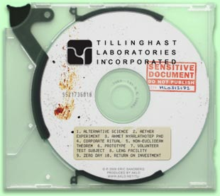 SENSITIVE DOCUMENT (1 CD) - TILLINGHAST LABORATORIES