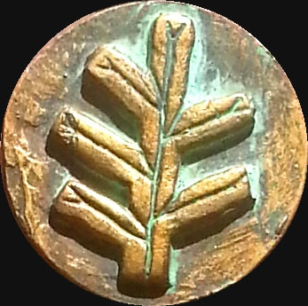 Älteres Zeichen nach H.P. Lovecraft - glatte Variante (Relief-Scheibe aus Resin) - Kult-Objekt 45mm