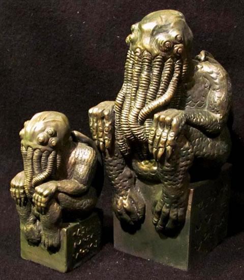 Cthulhu Statuette  nach H.P. Lovecrafts Handzeichnung - Ansicht 3