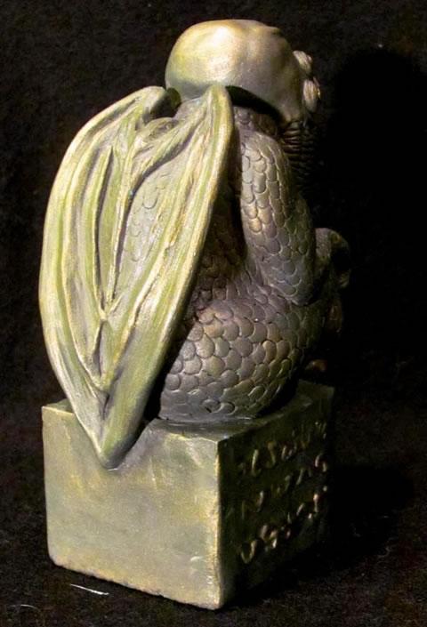 Cthulhu Statuette  nach H.P. Lovecrafts Handzeichnung - Ansicht 2