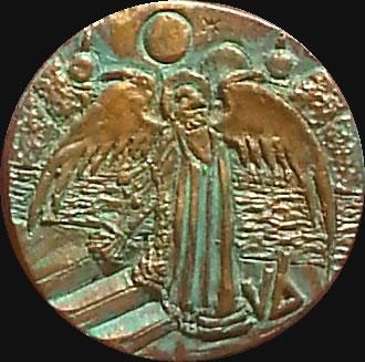König in Gelb (Relief-Scheibe aus Resin) - Kult-Objekt