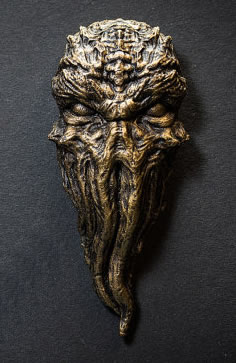 Cthulhu-Kühlschrank-Magnet (Patinierte Messing / Bronze-Version)