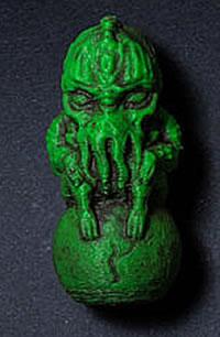 Cthulhu Schlüsselanhänger - Grün mit Patina