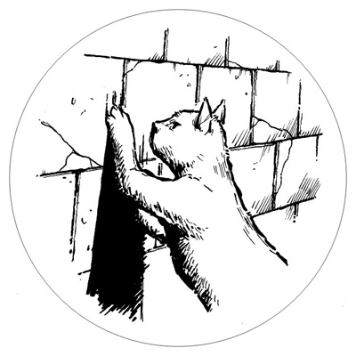 The Rats in the Walls - beer coaster with cat