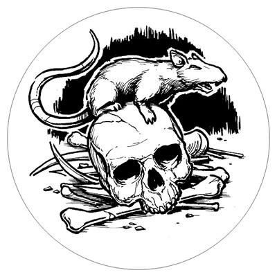 Die Ratten im Gemäuer - Bierdeckel mit Ratte