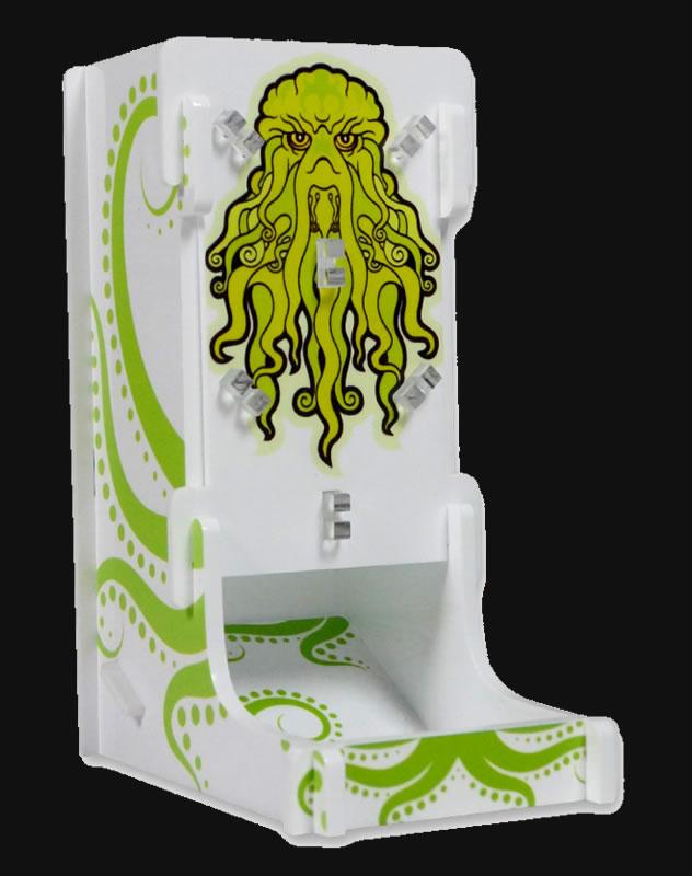 Cthulhu-Würfelturm grün-weiß von e-Raptor (Plexiglas)