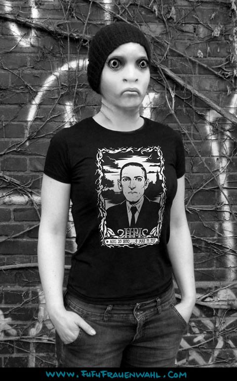 H.P. Lovercraft - T-Shirt (XL) für Frauen