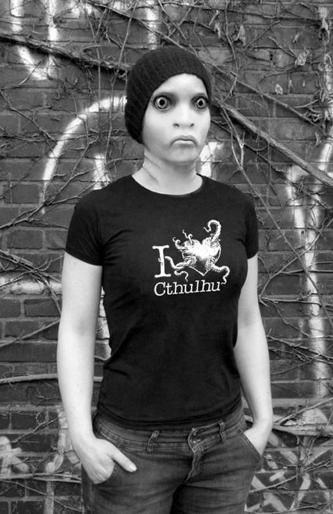 I love Cthulhu - T-Shirt (S) für Frauen