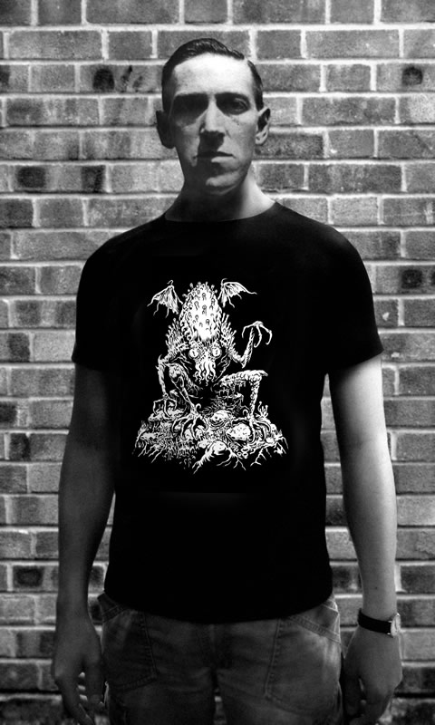 Lurking Cthulhu - T-Shirt (L) für Männer
