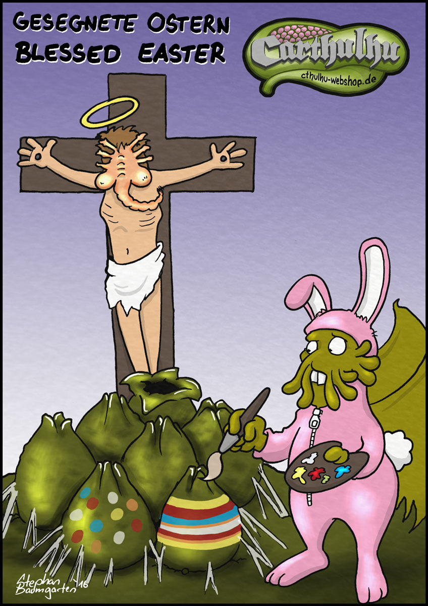Carttoon 011: Gesegnete Ostern / Blessed Easter