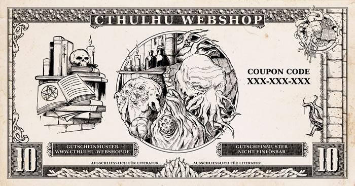10 Euro Bücher-Einkaufsgutschein für den Cthulhu-Webshop