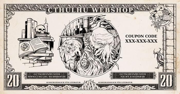 20 Euro Bücher-Einkaufsgutschein für den Cthulhu-Webshop