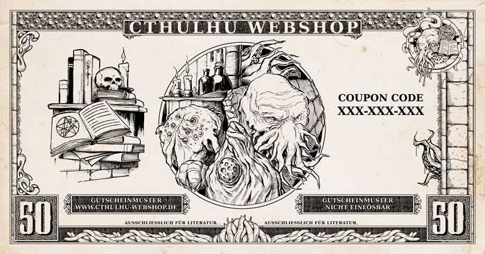 50 Euro Bücher-Einkaufsgutschein für den Cthulhu-Webshop