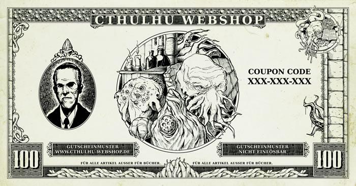 100 Euro Allgemeiner-Einkaufsgutschein für den Cthulhu-Webshop