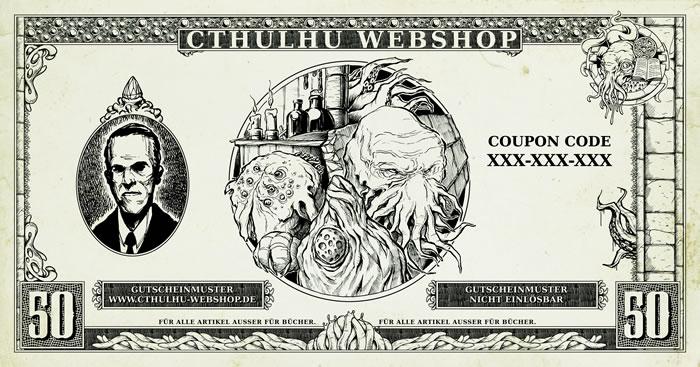 50 Euro Allgemeiner-Einkaufsgutschein für den Cthulhu-Webshop